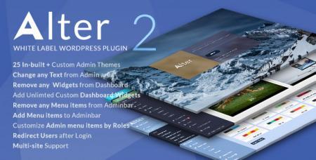 WpAlter v2.3.6 - White Label Wordpress Plugin