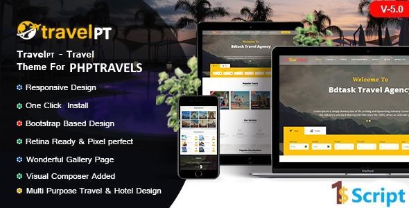 TravelPT -  Phptravels v6.5 latest  theme