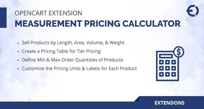 OpenCart Measurement Pricing Calculator Extension