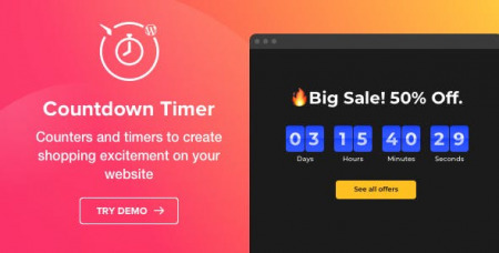 Countdown Timer v1.2.0 - WordPress Countdown Timer plugin