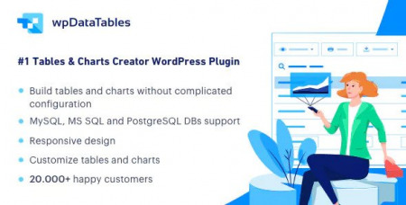 wpDataTables v2.5.1 - Tables and Charts Manager for WordPress